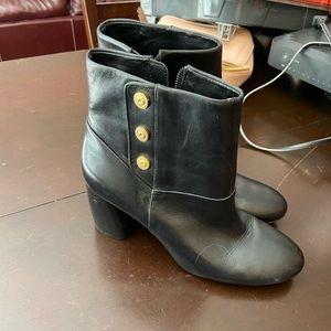 Nine West Blk leather ankle boots sz 8